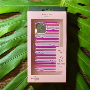 Kate Spade iPhone 11 Pro Case Lips and Stripes